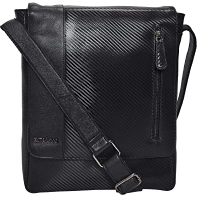 f219905d05 Small Messenger Bag for Men Women - Premium Crossover Vintage Leather  Crossbody Over the Shoulder Satchel. Roll over image to zoom in