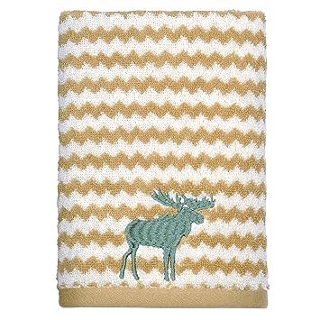 """Peri casa bordado alce 100% algodón toalla de mano, 15 """"X 26"""