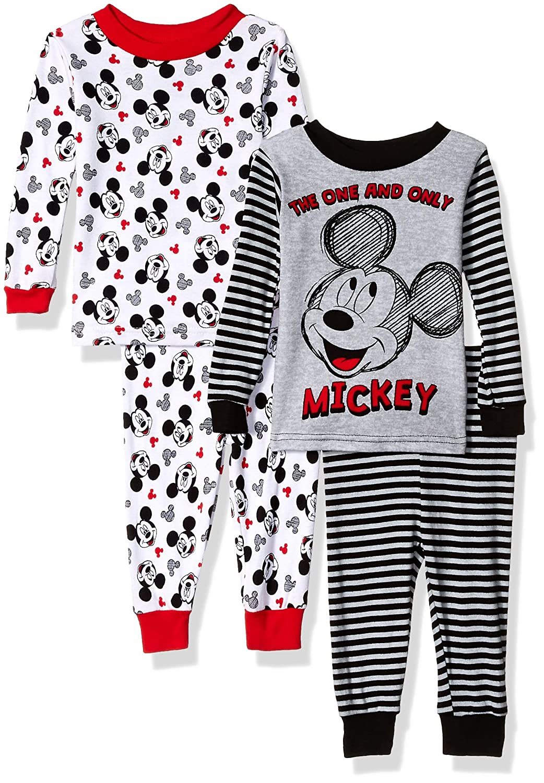 Disney Baby Boys Mickey Mouse 4-Piece Cotton Pajama Set