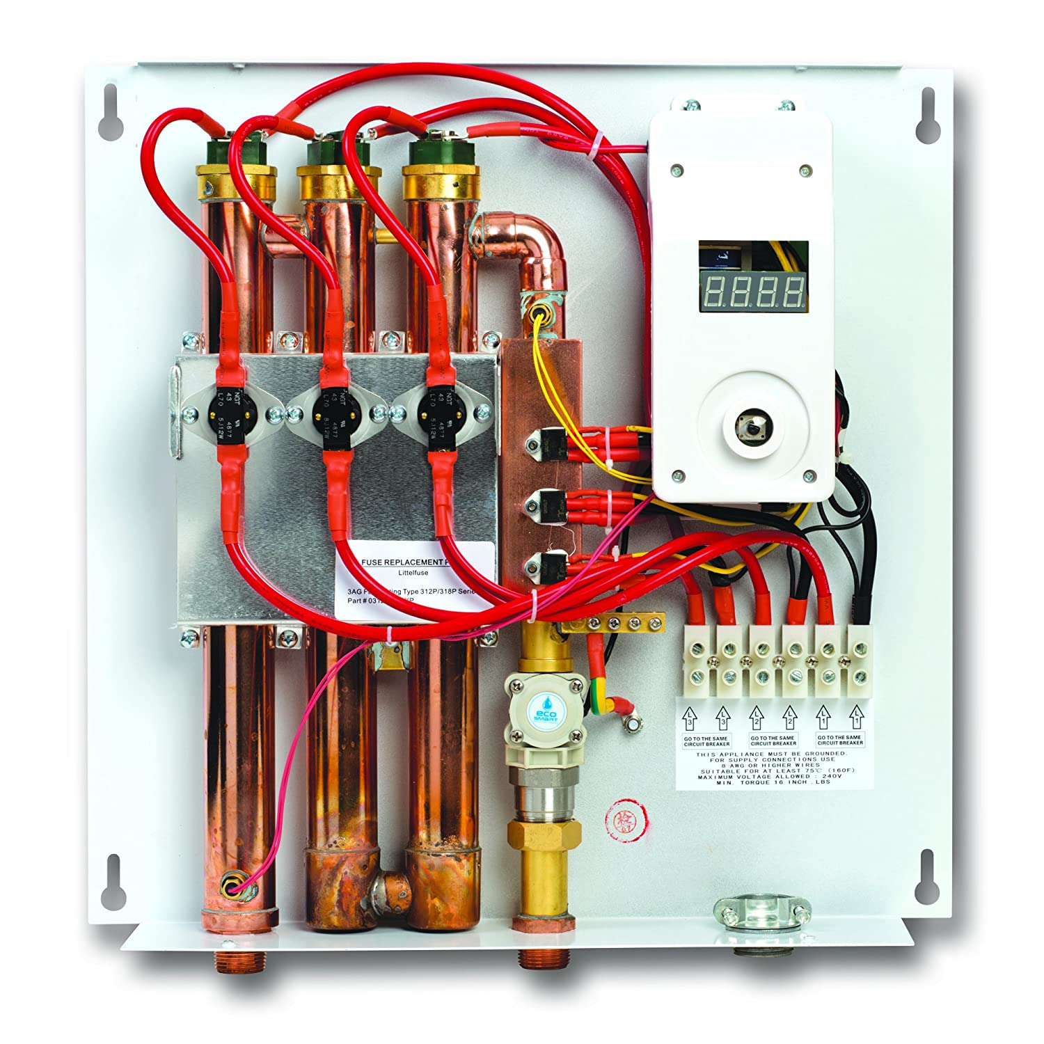 Ecosmart Eco 24 Kw At 240 Volt Electric Tankless Water Heater Hose Pipe Further Hot Wiring Diagram With Patented Self Modulating Technology