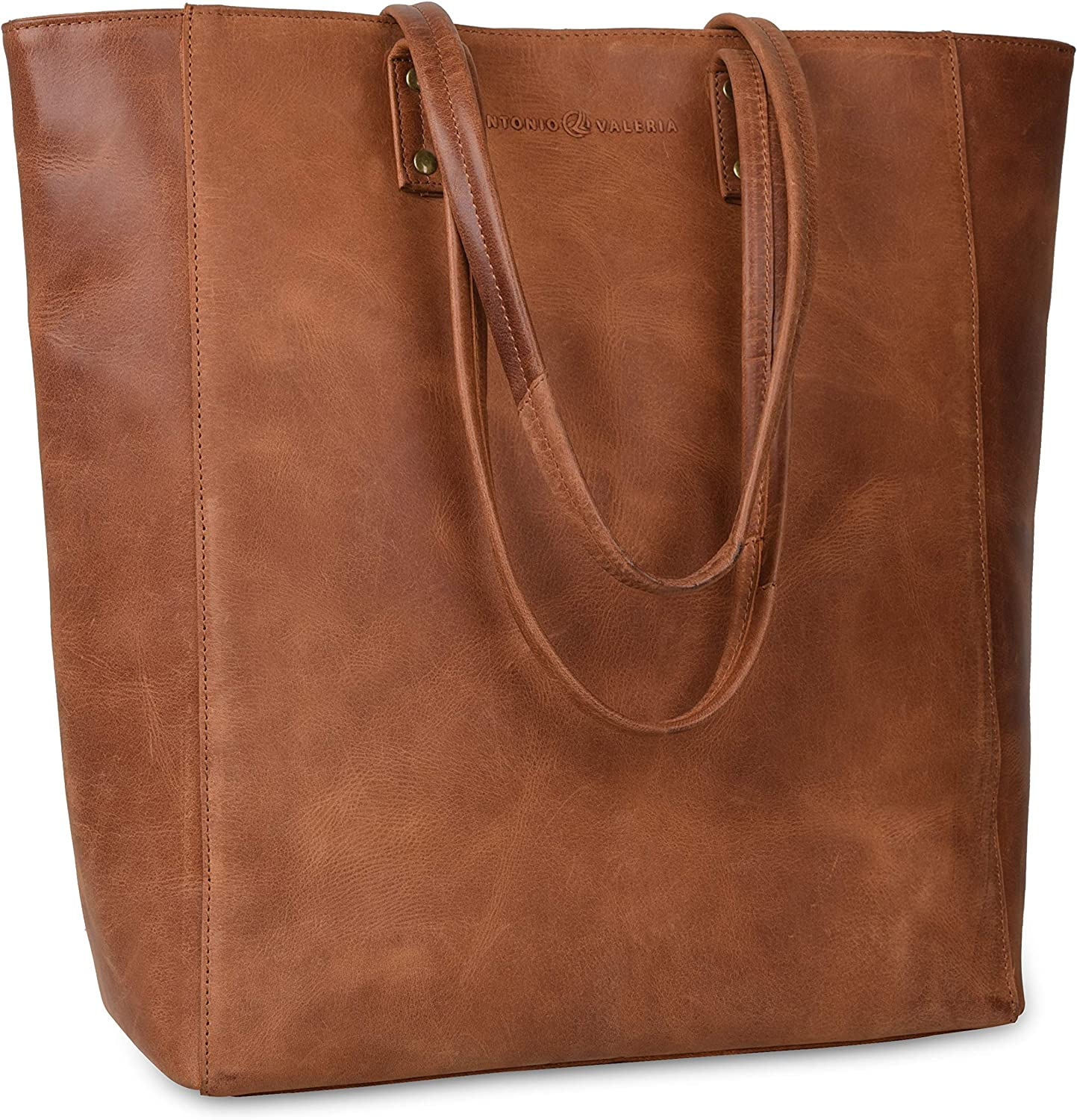 Antonio Valeria Ava Leather Leather Tote Top Handle Shoulder Bag for Women