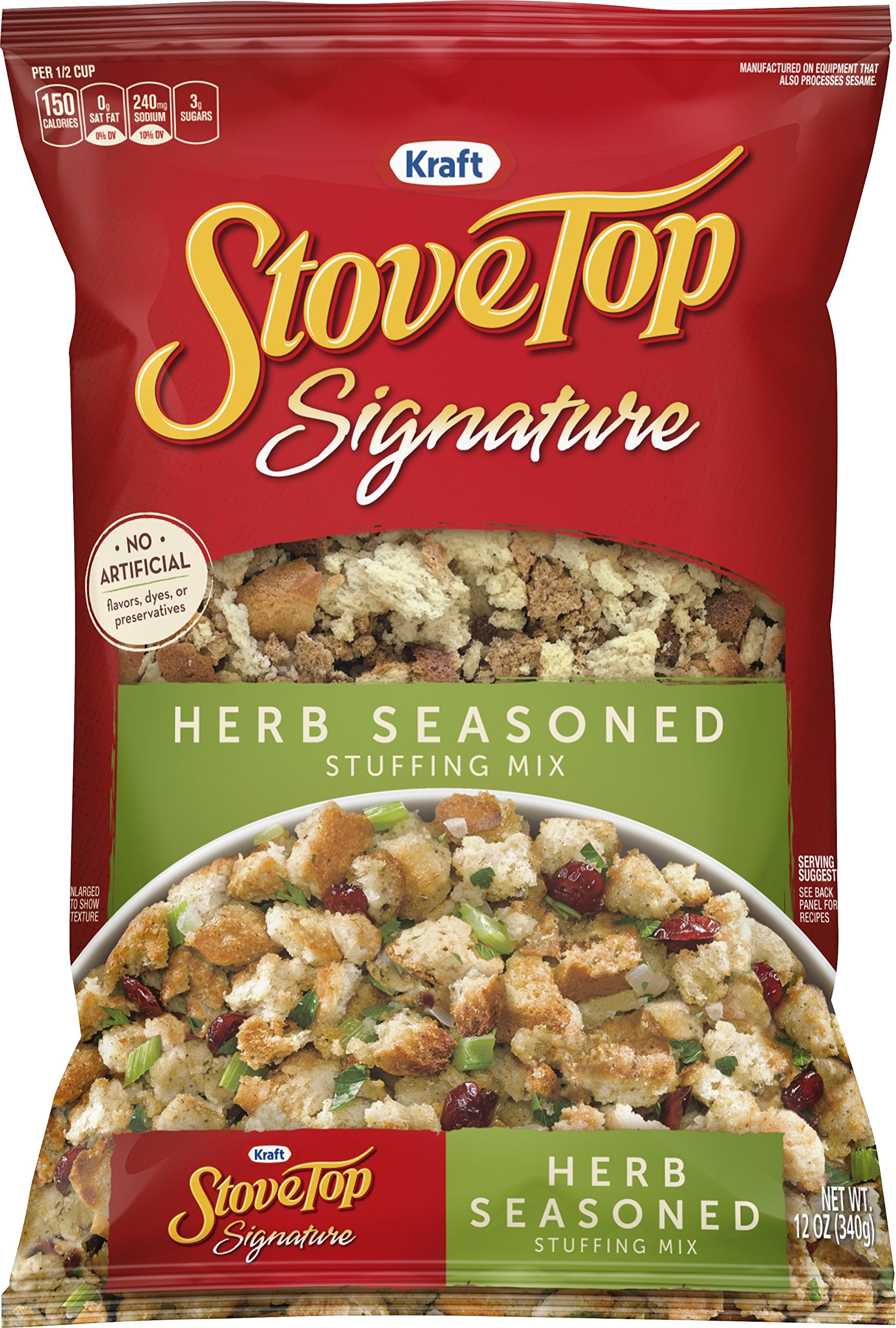 Stove Top Classic Homestyle Herb Stuffing Mix (12 oz Box) by Stop Top