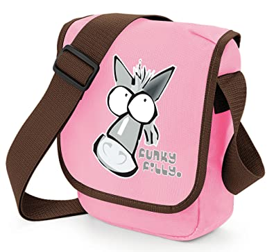 7e164578bd5 Funky Filly Pony Girls Silver Grey Horse Head Shoulder Bag Pink Size 23 x  17 x