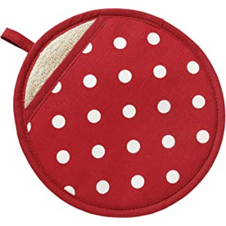 Red Polka Dot Pot Grab by C'est Ca!