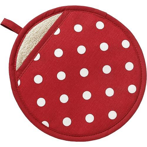 Red Polka Dot Pot Grab by C'est Ca!