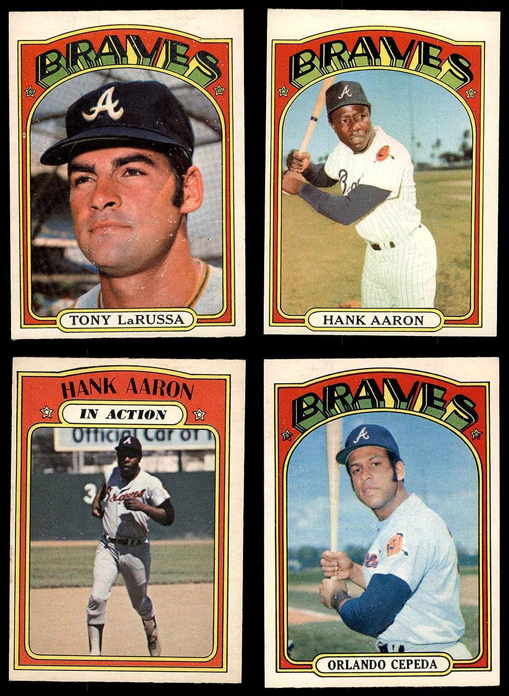1972 O-Pee-Chee Atlanta Braves Near Team Set Atlanta Braves (Baseball Set) Dean's Cards 5.5 - EX+ Braves 91FxsyG8odLSL1500_
