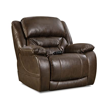 Phenomenal Comfortmax 1589721 Commander Power Headrest Recliner Walnut Dailytribune Chair Design For Home Dailytribuneorg