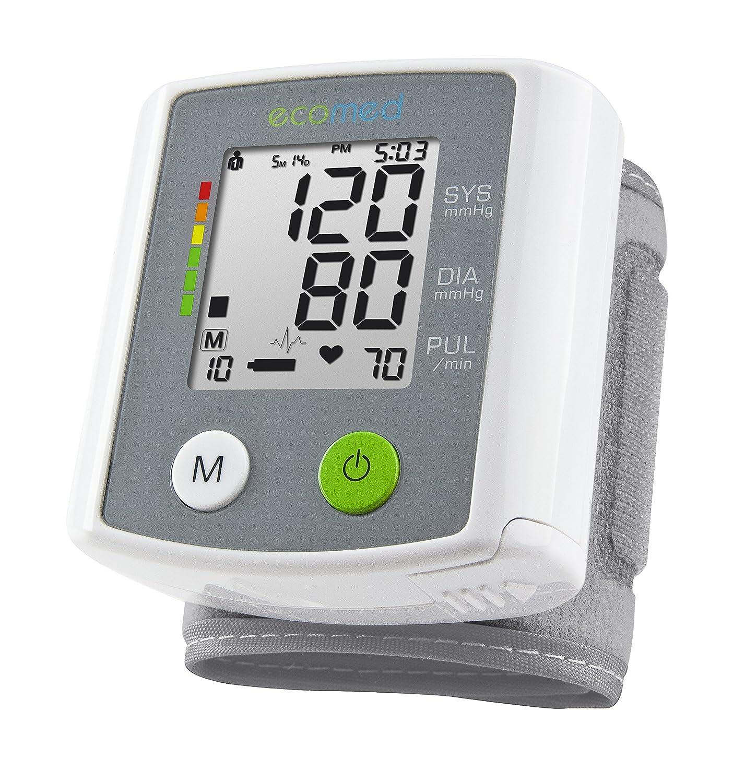 Ecomed BW-80E - Tensiómetro de muñeca, color blanco y gris: Amazon.es: Salud y cuidado personal