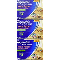 Reynolds Kitchens Sandwich and Snack Wax Paper Bags (50 Count, Pack of 3)