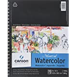 CANSON Artist Series Montval Watercolor Paper Pad, Heavyweight Cold Press and Micro-Perforated, Side Wire Bound, 140 Pound, 9