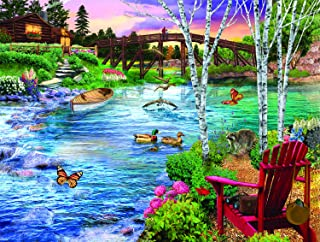 product image for Bridge Fishing 1000 pc Jigsaw Puzzle by SUNSOUT INC