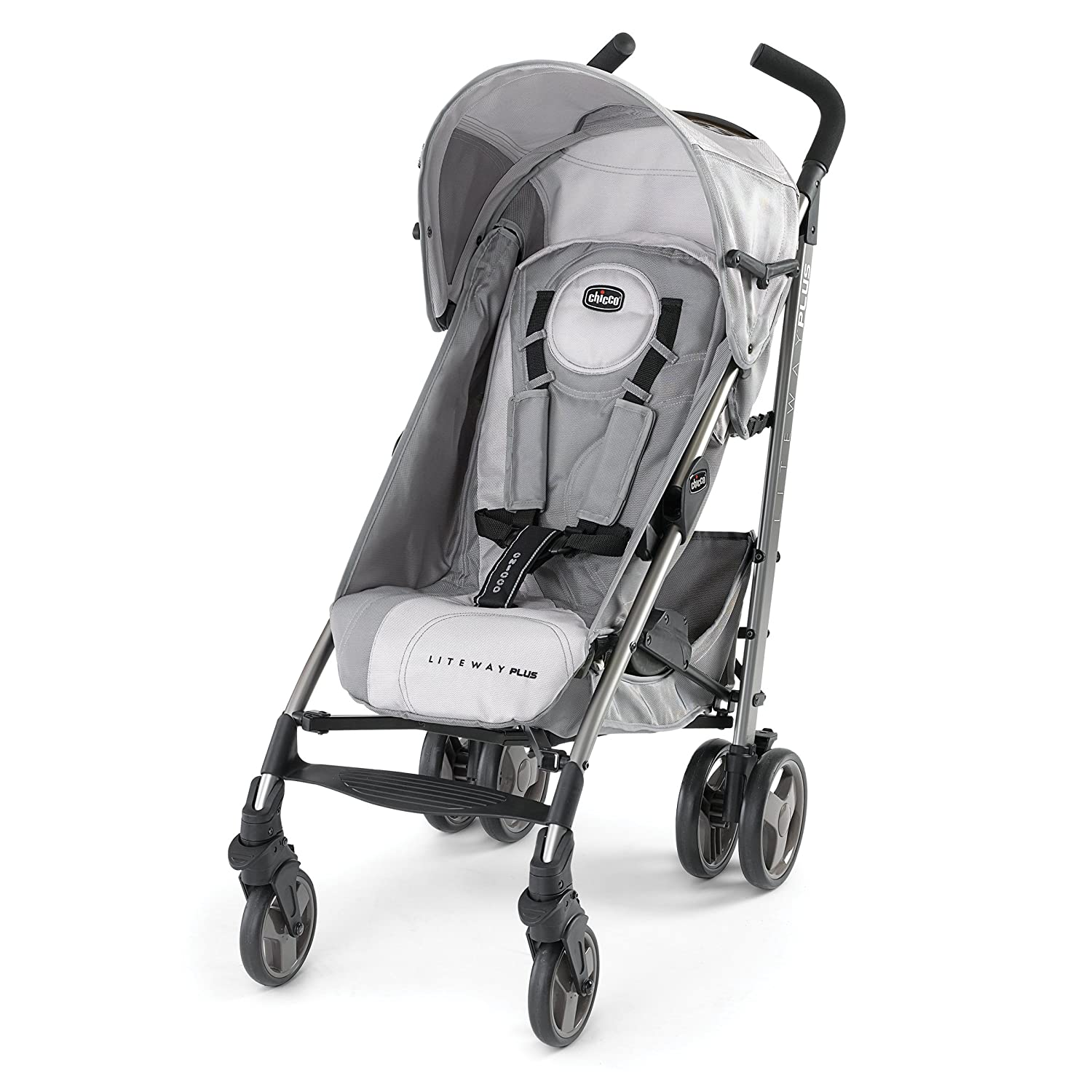 Amazon.com : Chicco Liteway Plus Stroller, Silver : Lightweight ...