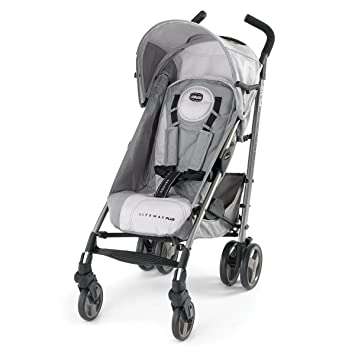 01ef3c5b9 Amazon.com : Chicco Liteway Plus 2-in-1 Stroller, Silver : Lightweight  Strollers : Baby