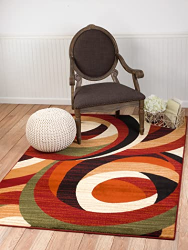 Summit 9 New Area Rug Modern Abstract Rug Many Sizes Available , 8 x 10 actual is 7 .4 x10 .6