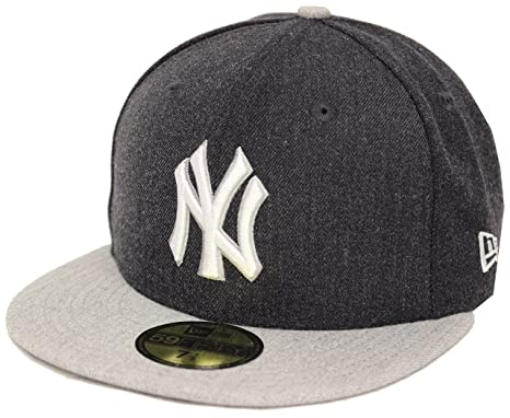 f3a15f56cdf66 New Era 59Fifty Heather Action New York Yankees Navy Gray Fitted Cap (7 1