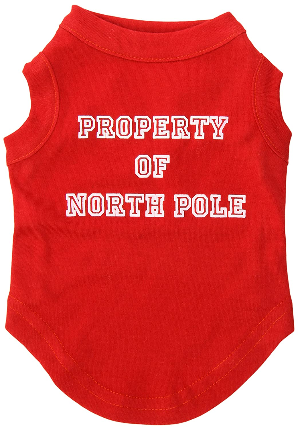 Dog   Cat   Pet Charms Property of North Pole Screen Print Shirts Red S (10)