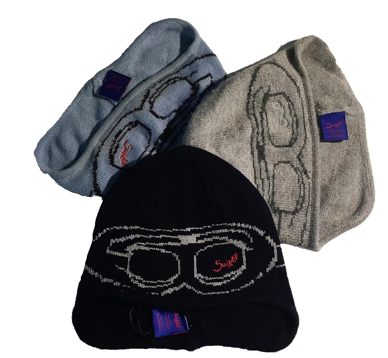 779f36d56362b Suixtil Men s Cashmere   Wool Beanie Bonnet - Grey -  Amazon.co.uk  Clothing