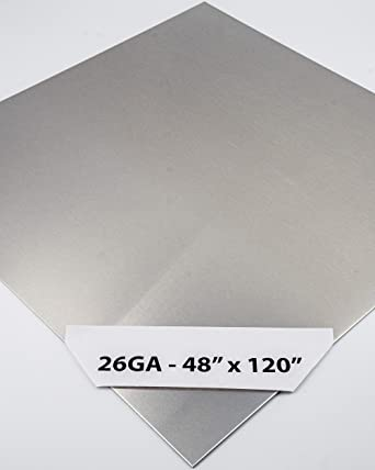 Amazon Com 304 Stainless Steel Sheet Metal 26ga 48 X 120 4 Brushed Finish 4ft X 10ft 4 X 10 4x10 Perfect For Food Grade Truck Restaurant Wall Floor Trailer Garage