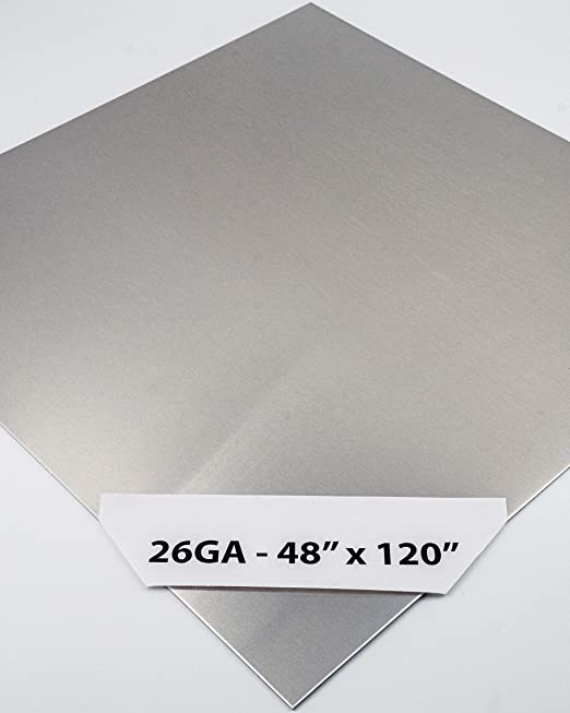 """18 Gauge Stainless Steel #4 Brushed 304 Sheet Plate 6/"""" x 6/"""" Set of 6"""
