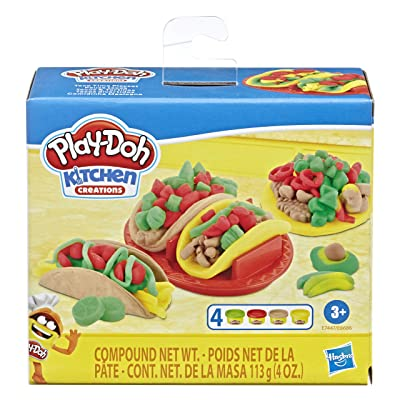 Play-Doh Kitchen Creations Taco Time Play Food Set for Kids 3 Years and Up with 4 Non-Toxic Colors: Toys & Games