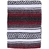 El Paso Designs Mexican Yoga Blanket Colorful 51in x 74in Studio Mexican Falsa Blanket Ideal for Yoga, Camping, Picnic, Beach