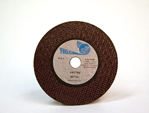 Aluminum Oxide Pack of 10 1//4 Hub 36 Grit Falcon A36TBE Extra Tough Resinoid Bonded Double Reinforced Grinding and Snagging Abrasive Cut-off Wheel Type 1 2 Diameter x 3//16 Thickness