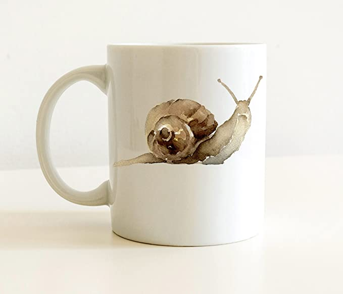 Amazon Com Snail Mug Snail Lover Coffee Mug 11 Oz Unique Snail Gift Kitchen Dining