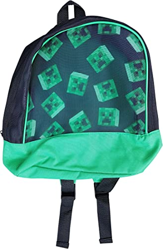 Minecraft Backpack – Small 12 , Mesh Front with Creeper Images