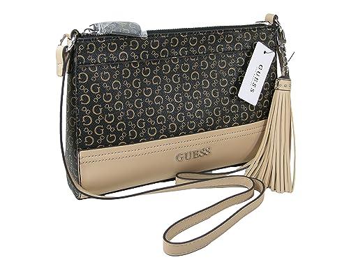 32455ea7c6cb New Guess G Logo Purse Cross Body Shoulder Hand Bag Natural Black Harbor   Amazon.ca  Shoes   Handbags