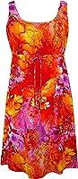 RJC Womens Beauteous Flower Poetry Empire Tie Front Short Tank Dress