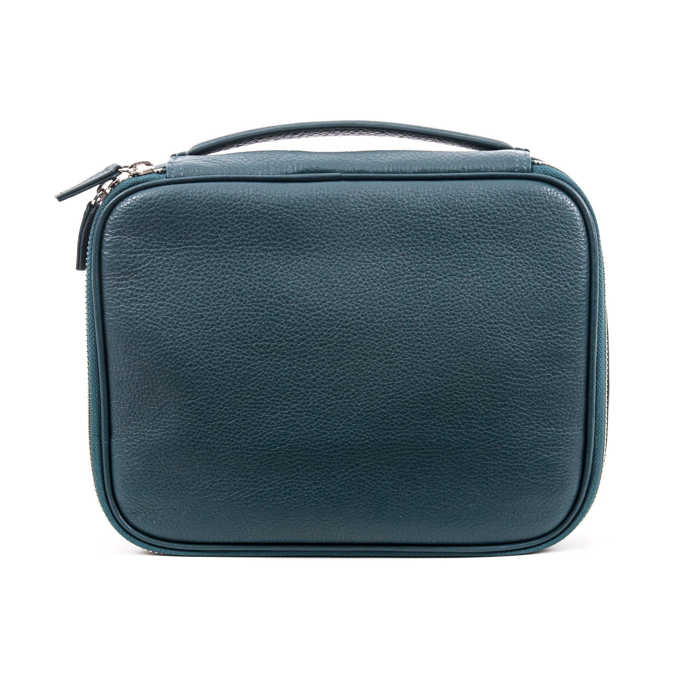 Leatherology Large Travel Organizer - Full Grain Leather Leather - Viridian (green)