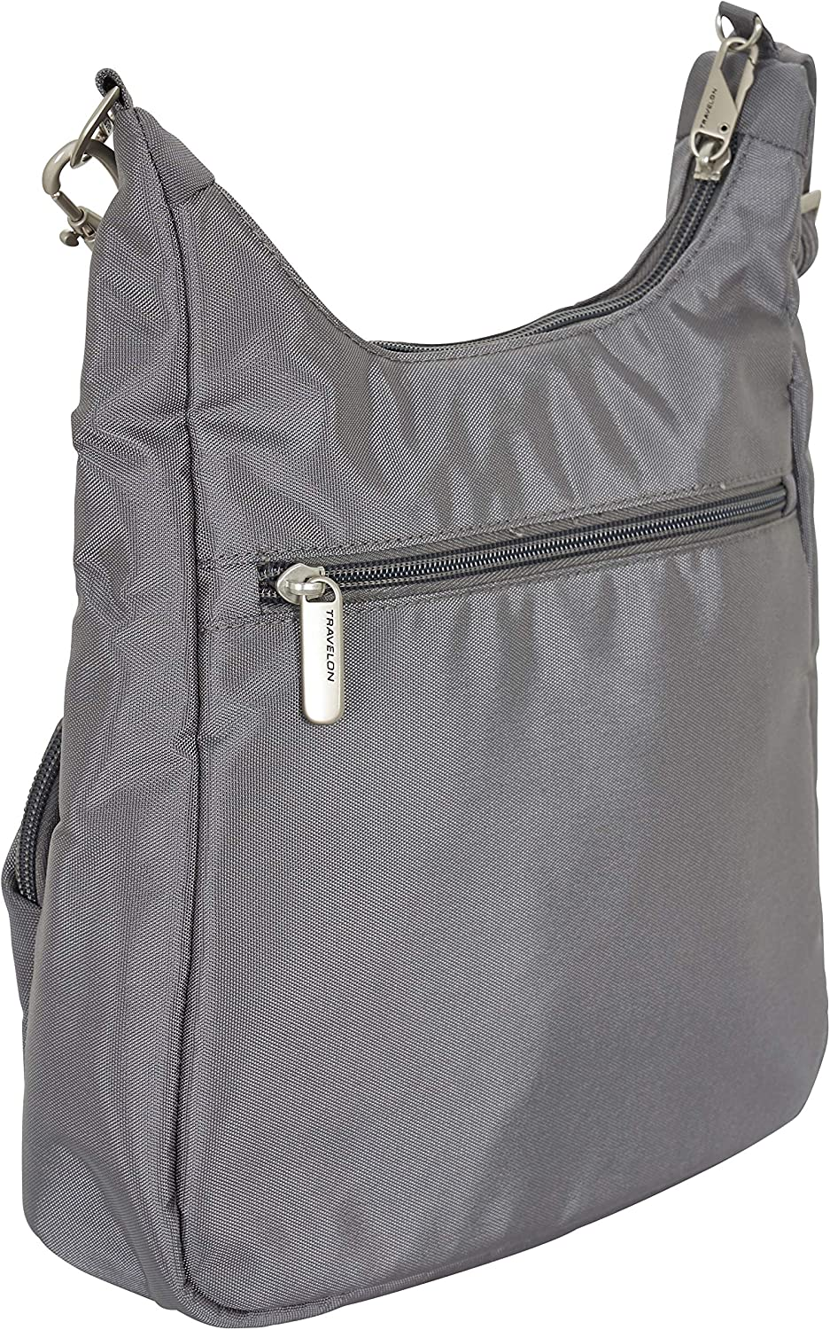 Travelon Anti-Theft Classic Essential Messenger Bag Exclusive Colos - Grey