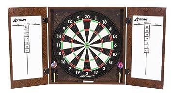 Amazon.com : Accudart Manchester Dartboard Cabinet Set : Sports ...