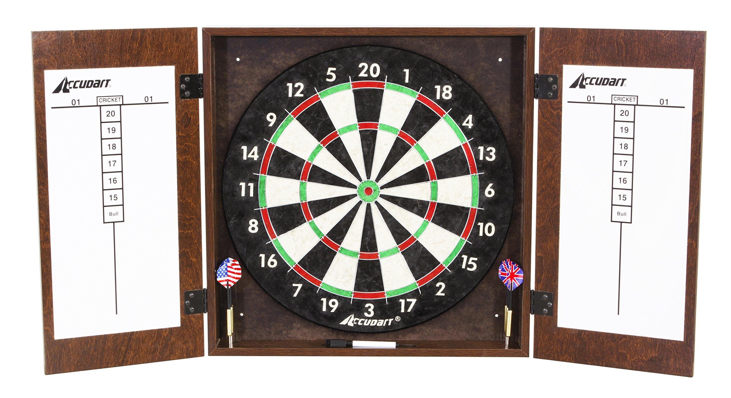 Accudart Manchester Dartboard Cabinet Set