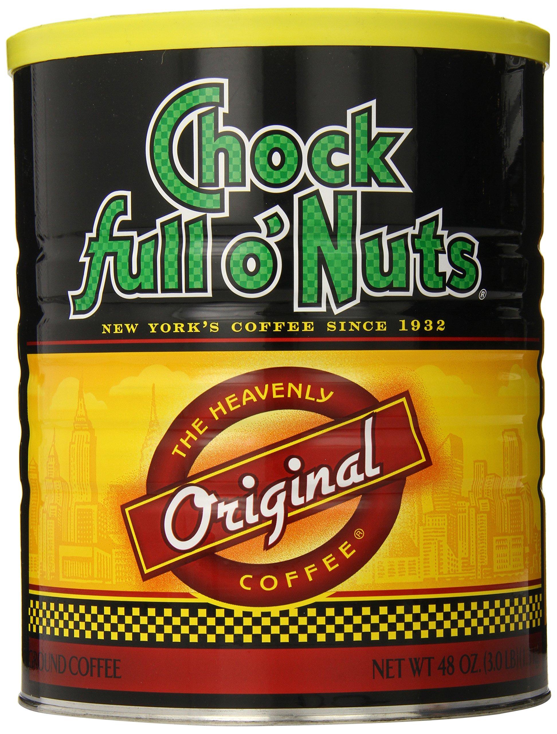 Chock Full O Nuts Ground Coffee, Original Blend, 48 Ounce (Medium Roast)