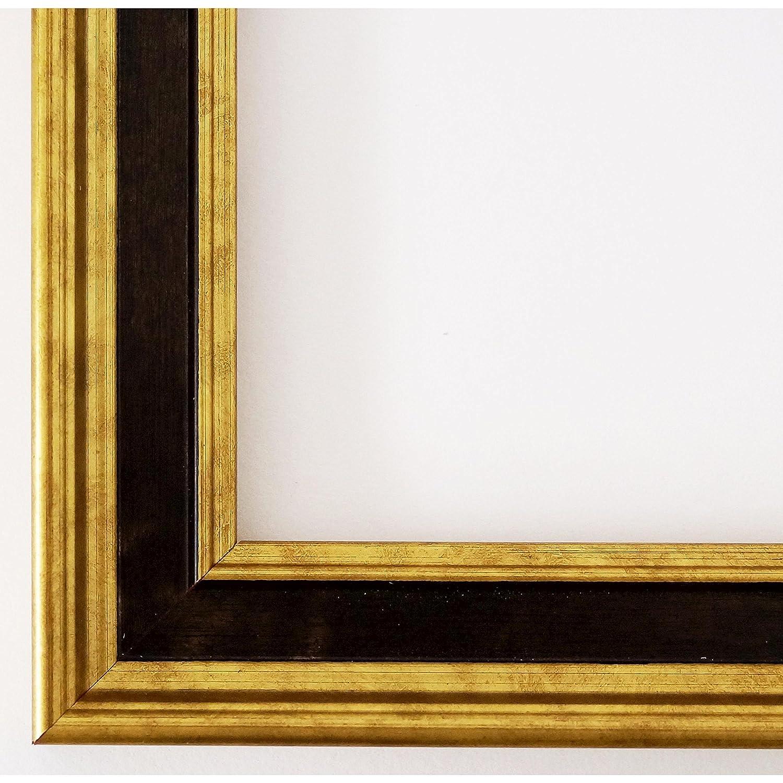 Bilderrahmen Gold Schwarz - 40 x 50 cm - Antik, Barock - Alle Größen - handgefertigt - Galerie-Qualität - WRF - Hamburg 3,4