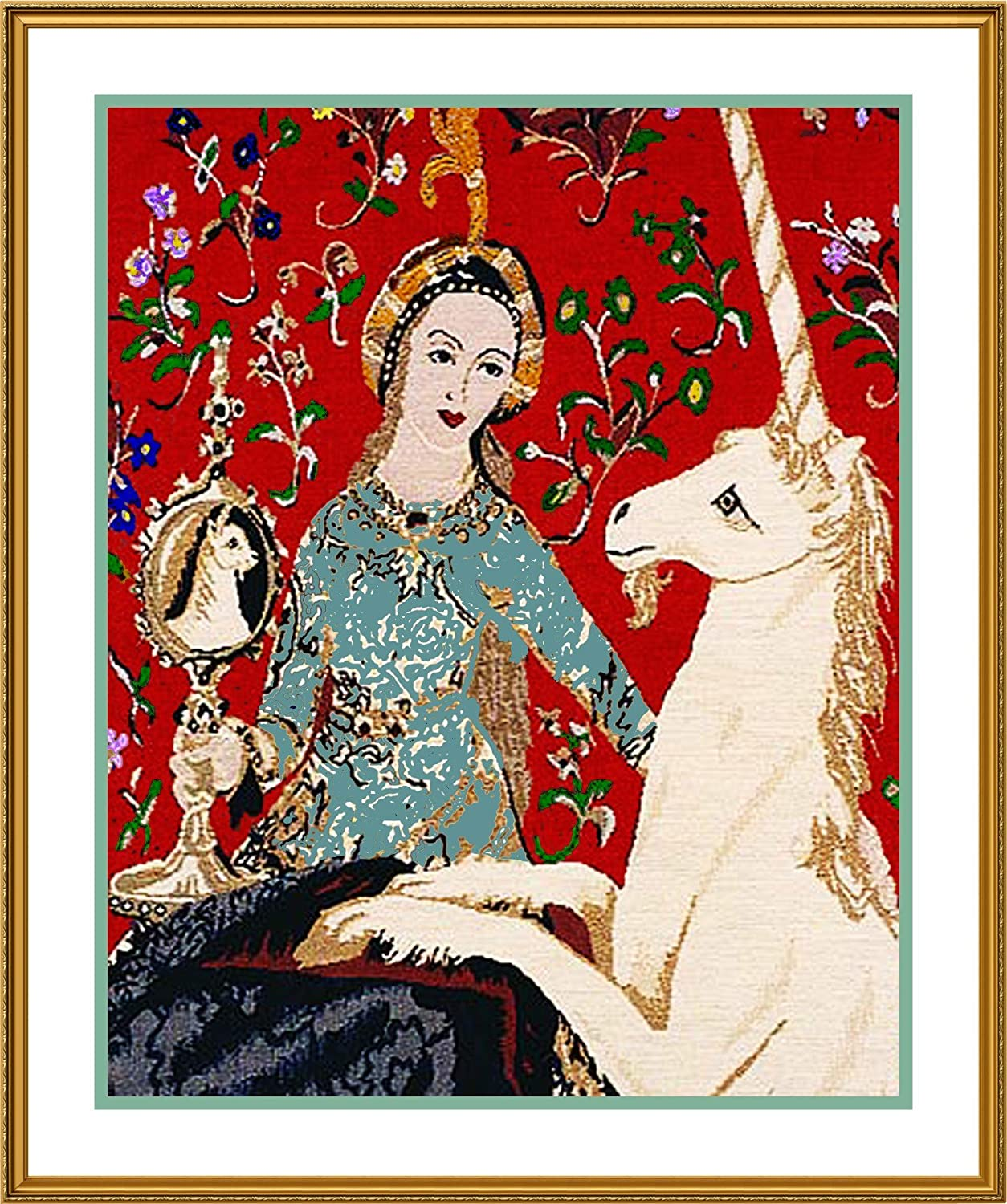 Medieval The Lady /& the Unicorn Sight Counted Cross Stitch Chart Pattern