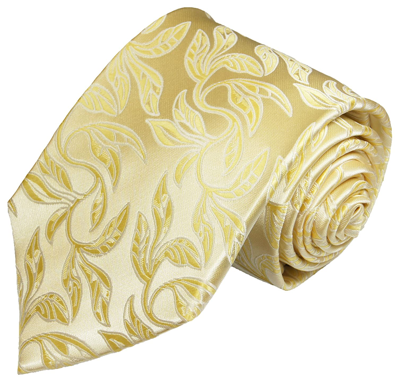 Paul Malone Hochzeitswesten Set 5tlg Creme Gold florales Muster