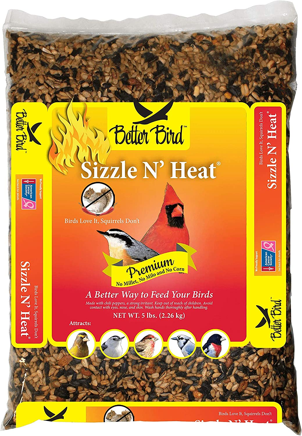 Better Bird, Sizzle N' Heat, 5 lb Poly Bag, Pack of 1