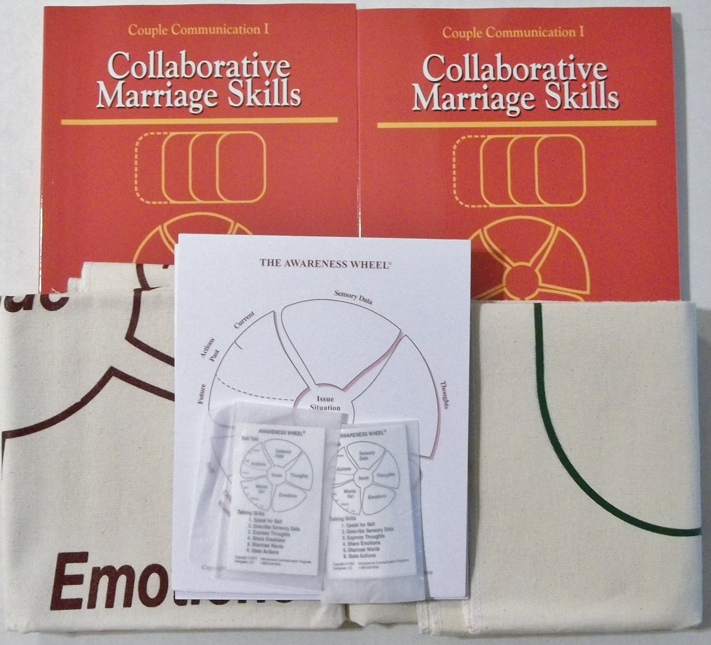 Couple Communication I Collaborative Marriage Skills Kit 2 Emo Wire Diagram Workbooks Wheel Pads Pocket Cards Mats Whole Package Sherod Miller