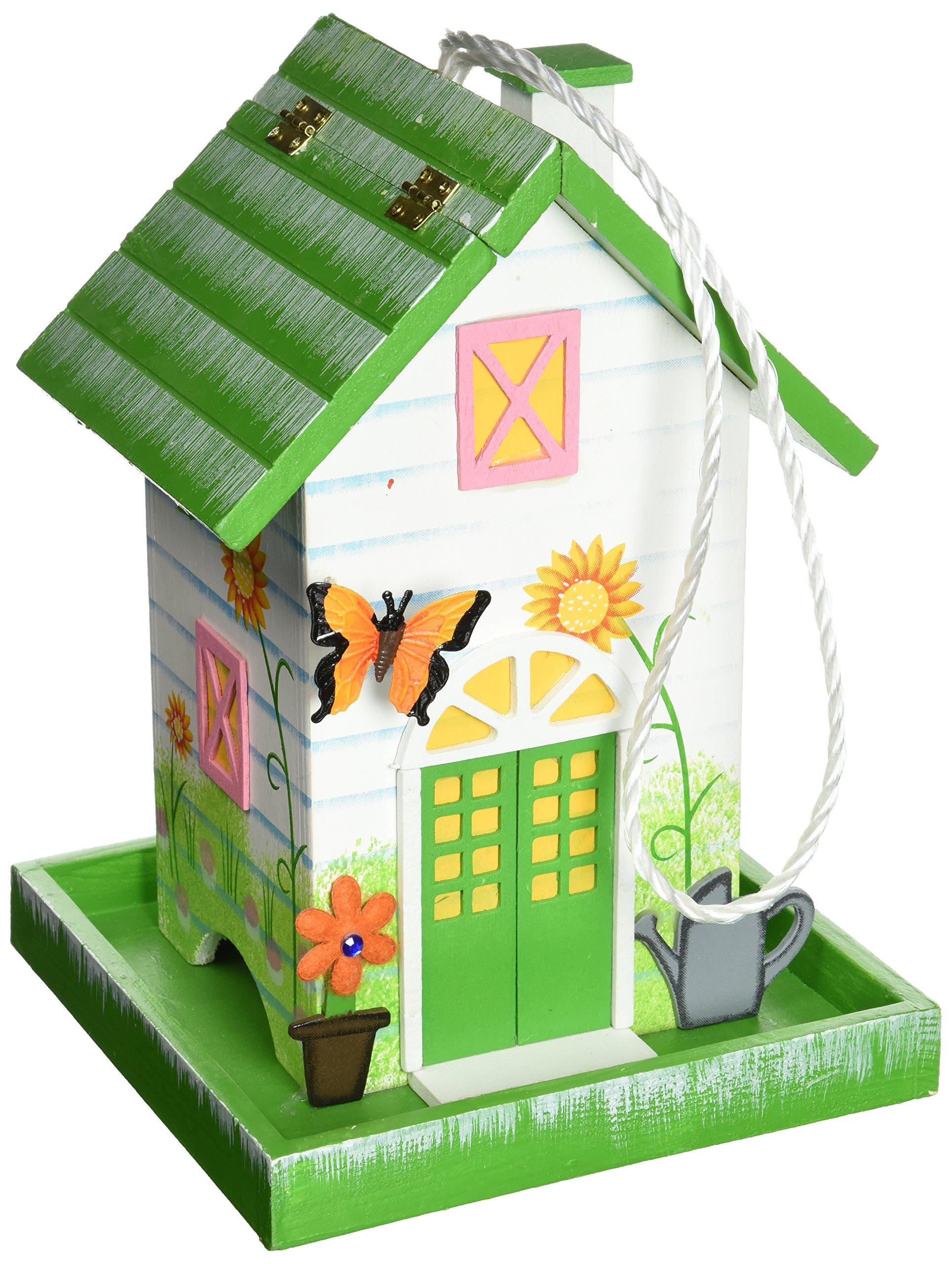 Home Bazaar HB-6008S-NV Butterfly Birdfeeder - Dark Green