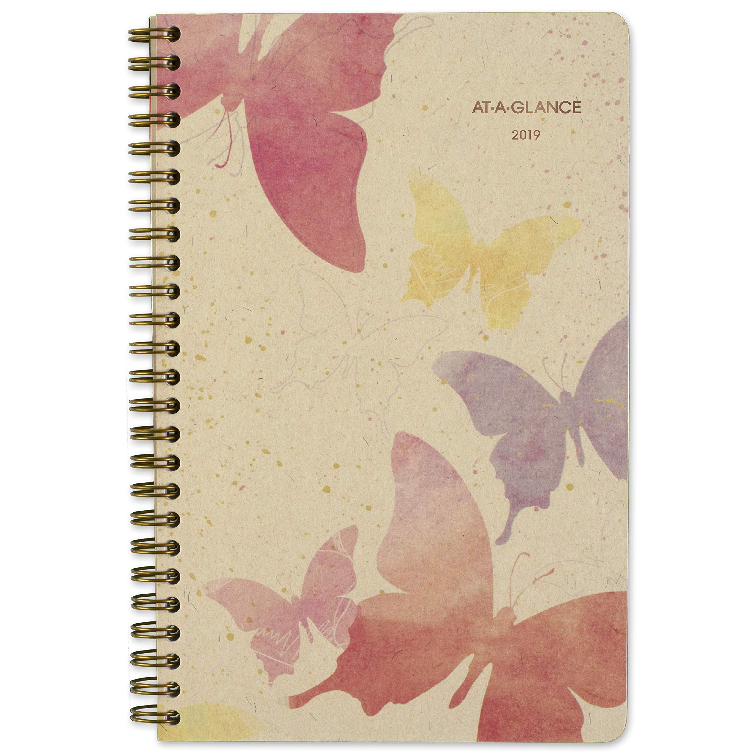 AT-A-GLANCE 2019 Weekly & Monthly Planner, 5-1/2'' x 8-1/2'', Small, Recycled, Watercolors, (791-200G)
