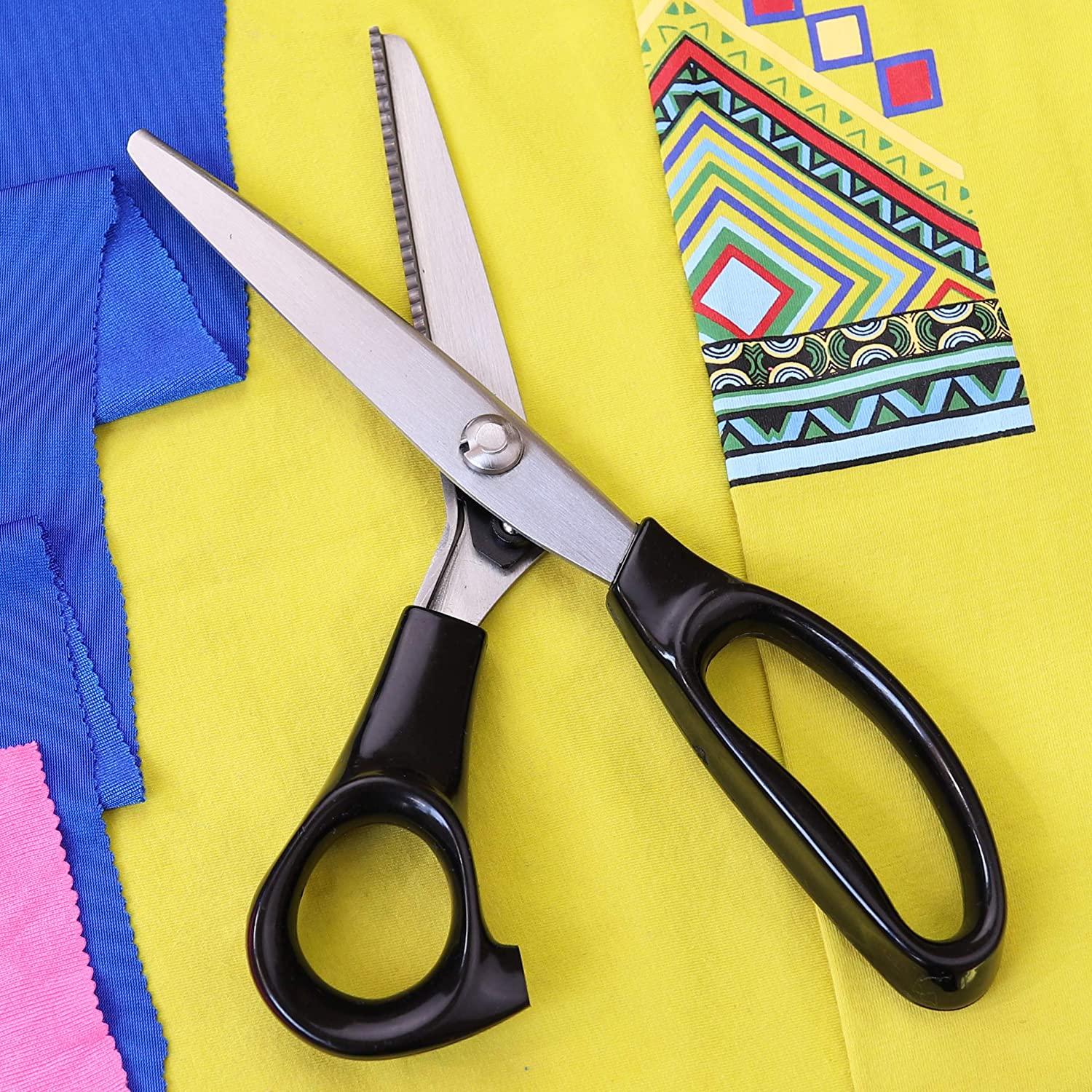 Hui Tong Strong /& Sharpe Pinking Shears for Fabric,Serrated and Scalloped Pinking sheers,A Total of 6 Models Serrated 5mm
