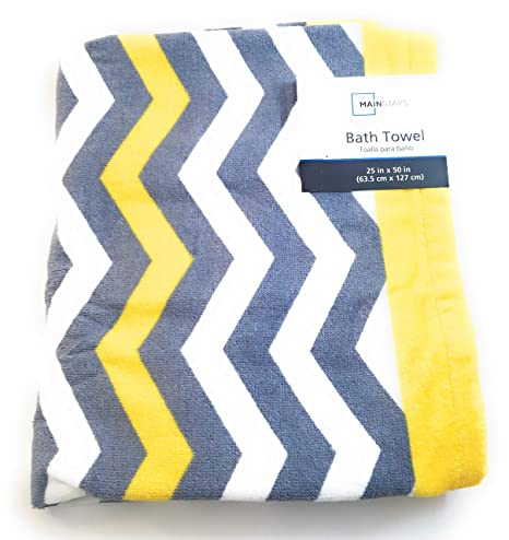 Pleasant Mainstays Chevron Bath Towel Yellow Download Free Architecture Designs Estepponolmadebymaigaardcom