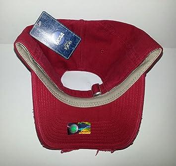 Amazon.com  USC Trojans Adjustable Buckle Hat Distressed Cap  Sports    Outdoors e87cdddc468d