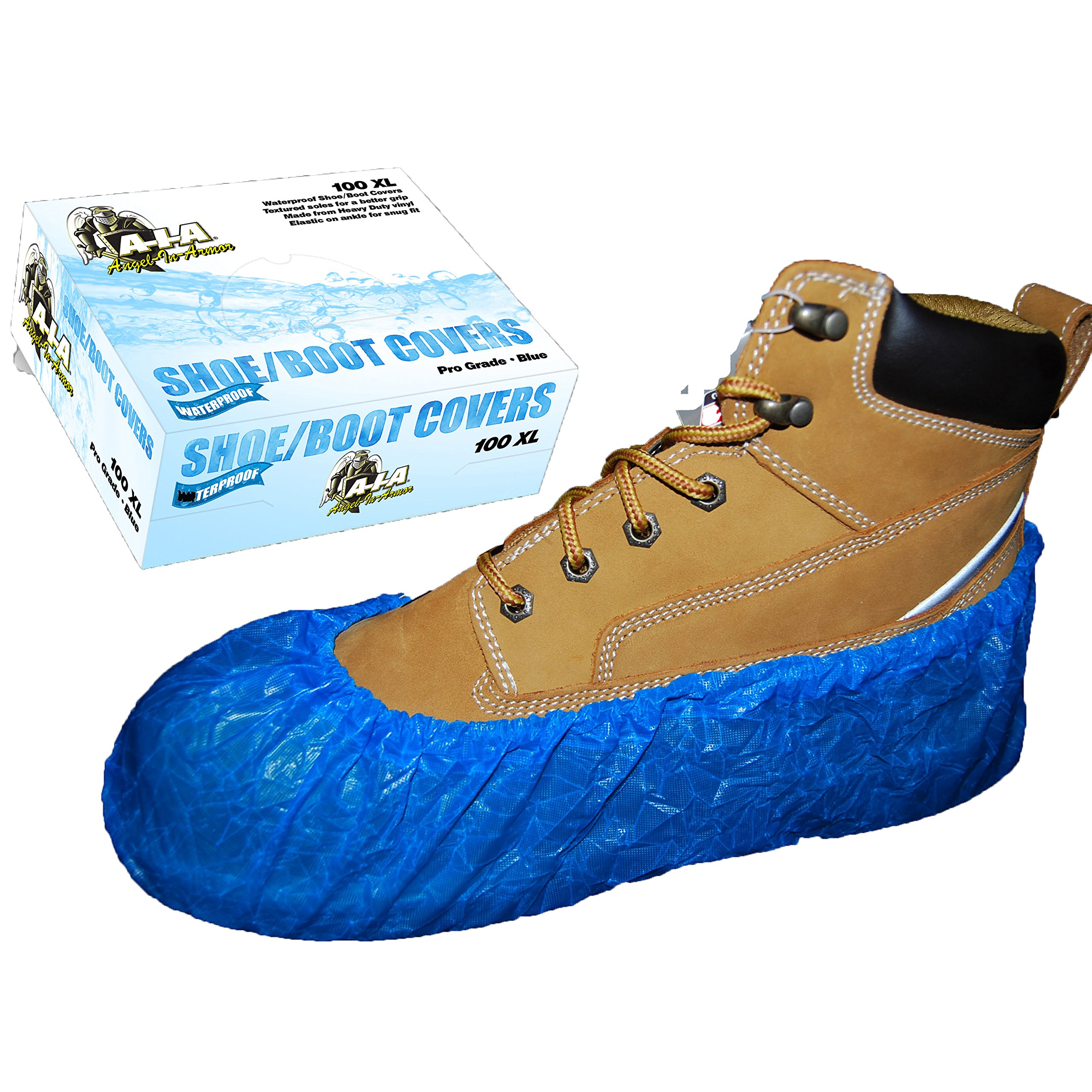 Waterproof Shoe Covers/Boot Covers/Blue / 100 / A-I-A Angel-In-Armor (2XL)