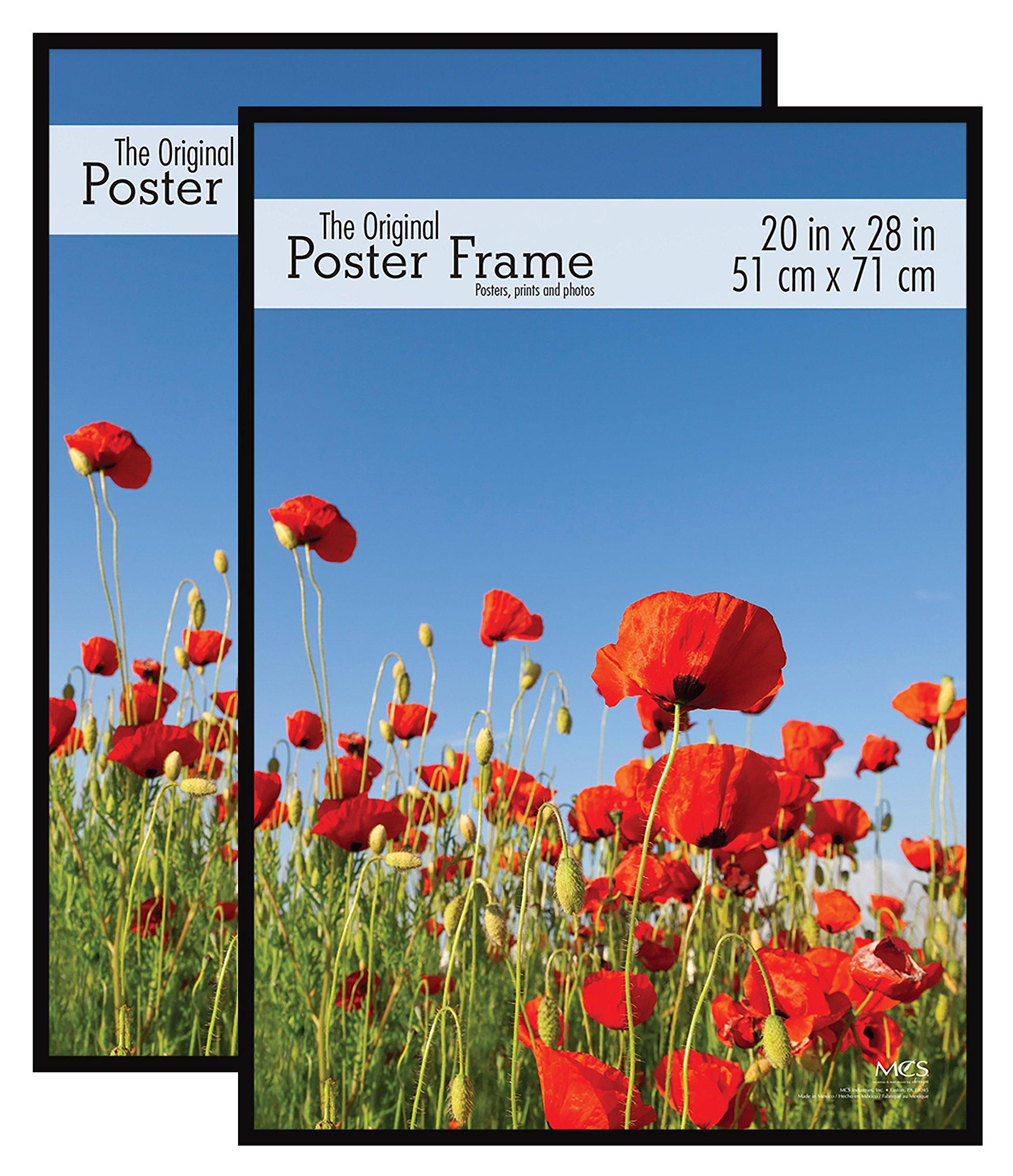 MCS Original Poster Frame, 20 by 28-Inch, Black, 2-Pack