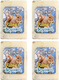 product image for Novelty Handmade Mini Gift Soap Bars 4 Bars Per Order by Filthy Farmgirl (Squirrel)