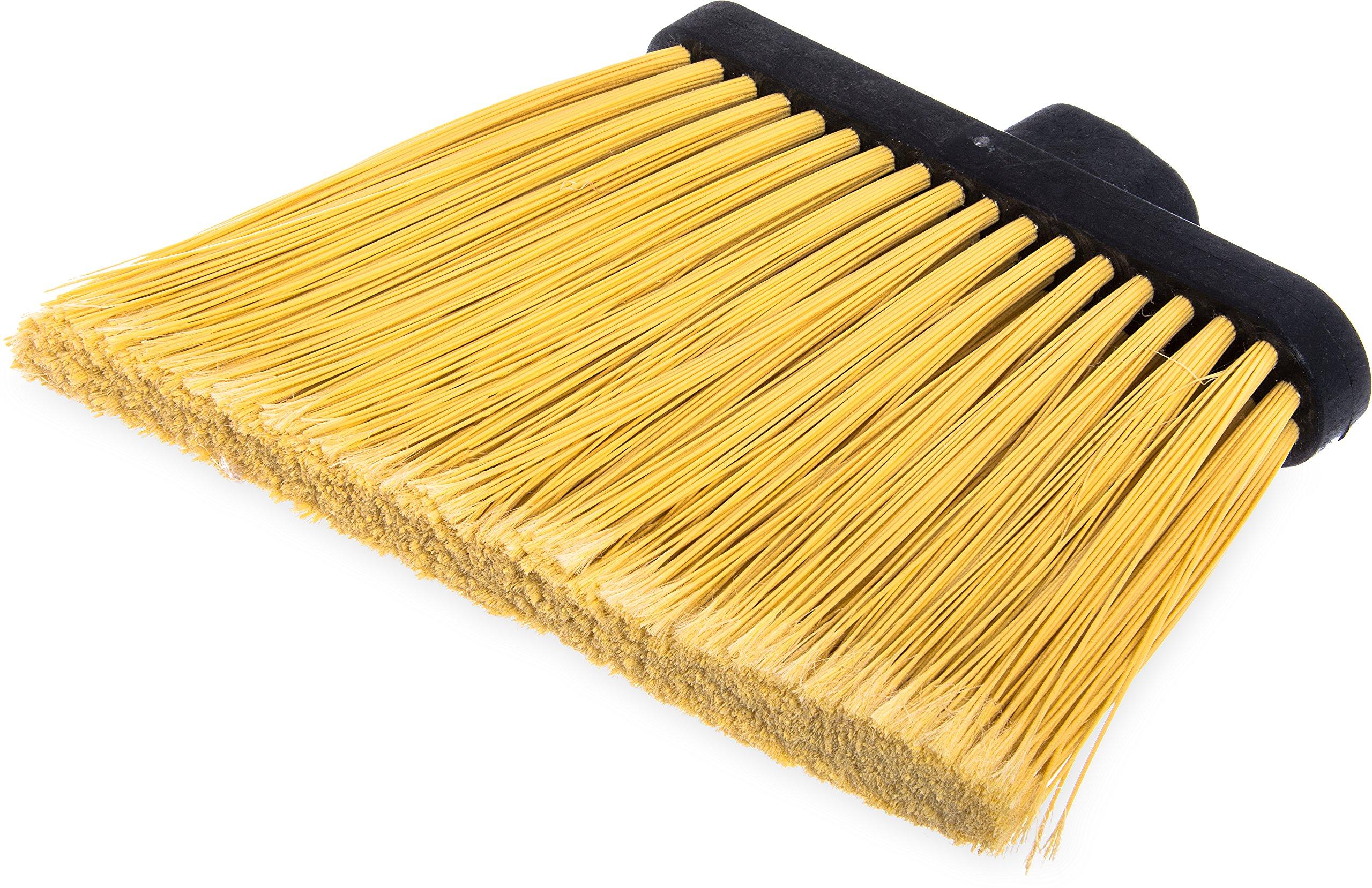 Carlisle 3686700 Duo-Sweep Flagged Angle Broom Head, 12'' Width, Natural