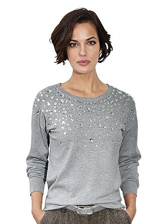 9ea0c4fa3102 Damen Pullover mit Strassdekoration by AMY VERMONT  Amazon.de  Bekleidung